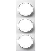 Рамка трехместная вертикальная ABB Tacto (белый)