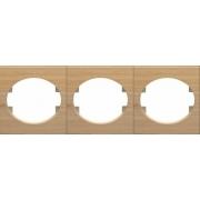 Рамка трехместная горизонтальная ABB Tacto (бук)