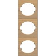 Рамка трехместная вертикальная ABB Tacto (бук)