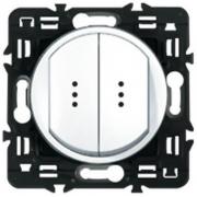 Выключатель (переключатель) двухкл. с индикацией Legrand Celiane (белый)