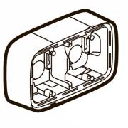 Коробка для накладного монтажа 2-постовая (белая)