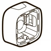 Коробка для накладного монтажа 1-постовая (слоновая кость)
