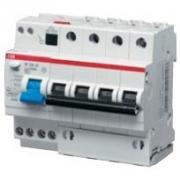 Дифференциальный автомат ABB 4-полюсный DS204 AC-C10/0,03 6мод.