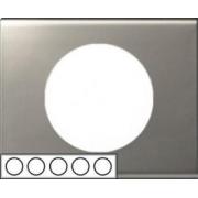 Рамка Legrand Сeliane пятиместная (никель велюр)