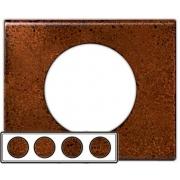 Рамка Legrand Сeliane четырехместная (патина феррум)