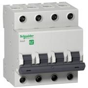 Автоматический выключатель Schneider Electric EASY 9 4П 10А С 4,5кА 400В