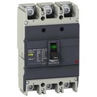 Автоматический выключатель Schneider Electric EZC250F 125A 18 кА/400В 3П3Т