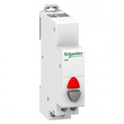 Кнопка управления iPB Acti 9 Schneider Electric серая+красный индикатор 1НЗ