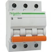 Автоматический выключатель Schneider Electric ВА63 3п 10A C 4,5 кА