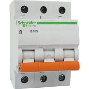 Автоматический выключатель Schneider Electric ВА63 3п 20A C 4,5 кА