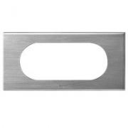 Рамка Legrand Сeliane 4/5 модулей (фактурная сталь)