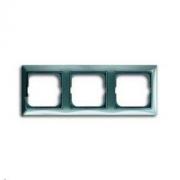 Рамка трехместная ABB Basic 55, цвет голубой