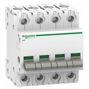 Выключател нагрузки iSW Acti 9 Schneider Electric 4П 63A (модульный рубильник)