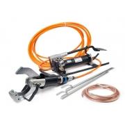 КВТ Комплект гидравлических ножниц с ножной помпой для резки кабелей под напряжением