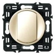 Выключатель кнопочный Legrand Celiane 10А с клавишей (слоновая кость)