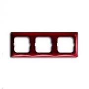 Рамка трехместная ABB Basic 55, красная