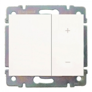 Cветорегулятор кнопочный Legrand Galea Life 60-600Вт (белый)