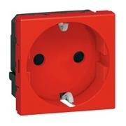 Розетка электрическая, специальная, с механической блокировкой, Legrand Mosaic (Красный)