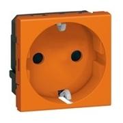 Розетка электрическая с антибактериальным покрытием, Легранд Мозаик (Оранжевый)