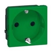 Розетка электрическая с антибактериальным покрытием, Legrand Mosaic (Зеленый)