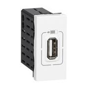 Зарядка USB, одинарная, Легранд Мозаик (белая)