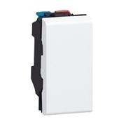 Выключатель 1-модульный простой, Legrand Mosaic, 10А (белый)