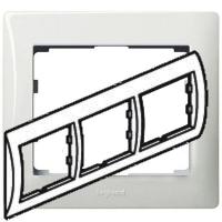 Рамка Legrand Galea life трехместная горизонтальная (белая)