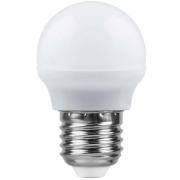Лампа LED 5вт Е27 теплый матовый шар (SBG4505) SAFFIT