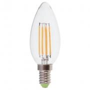 Лампа LED 5вт Е14 белый свеча FILAMENT FERON (LB-58)