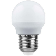 Лампа LED 7вт Е14 белый матовый шар SAFFIT (SBG4507)