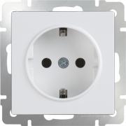 Розетка с заземлением белая Werkel a028829 WL01-SKG-01-IP20