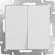 Выключатель двухклавишный белый Werkel a028645 WL01-SW-2G