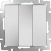 Выключатель трехклавишный белый Werkel a033749 WL01-SW-3G