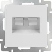 Розетка телефонная RJ-11 и интернет RJ-45, Werkel белый a028834