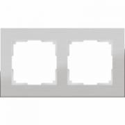 Рамка пятерная белое стекло Werkel Favorit a030823 WL01-Frame-05