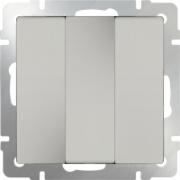 Рамка тройная Werkel Favorit, серое стекло a030777 WL01-Frame-03
