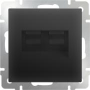 Выключатель одноклавишный с подсветкой серо-коричневый Werkel a029870 WL07-SW-1G-LED