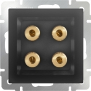 Выключатель перекрестный одноклавишный (из 3-х мест) серо-коричневый Werkel a033770 WL07-SW-1G-C