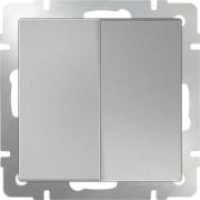 Розетка с заземлением, шторками и USBх2 серо-коричневая Werkel a033475 WL07-SKGS-USBx2-IP20
