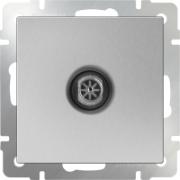 Выключатель двухклавишный проходной черный матовый Werkel a029875 WL08-SW-2G-2W