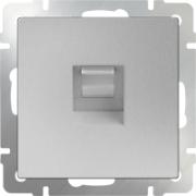 Выключатель одноклавишный с подсветкой черный матовый Werkel a029871 WL08-SW-1G-LED