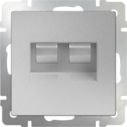 Выключатель перекрестный одноклавишный (из 3-х мест) черный матовый Werkel a033771 WL08-SW-1G-C