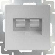 Выключатель одноклавишный проходной с подсветкой черный матовый Werkel a029868 WL08-SW-1G-2W-LED