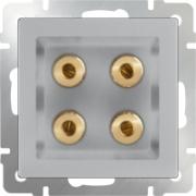 Выключатель двухклавишный с подсветкой черный матовый Werkel a029878 WL08-SW-2G-LED