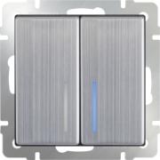 Розетка акустическая х4 черная матовая Werkel a030818 WL08-AUDIOx4