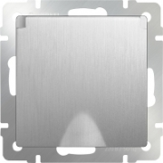 Выключатель одноклавишный проходной глянцевый никель Werkel a028843 WL02-SW-1G-2W
