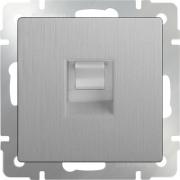 Выключатель одноклавишный с подсветкой глянцевый никель Werkel a030792 WL02-SW-1G-LED