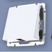 Выключатель двухклавишный проходной с подсветкой глянцевый никель Werkel a030793 WL02-SW-2G-2W-LED
