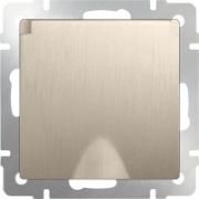 Розетка влагозащищенная с заземлением с защитной крышкой и шторками шампань рифленый Werkel a035621 WL10-SKGSC-01-IP44
