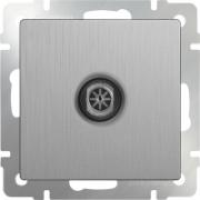 Розетка телевизионная TV оконечная серебряная рифленая Werkel a035658 WL09-TV